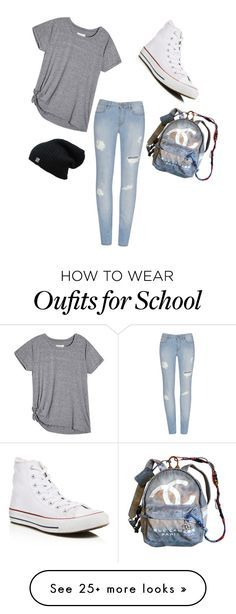 """""""School Days"""" by crazy4fashion522 on Polyvore featuring Converse and Chanel More"""