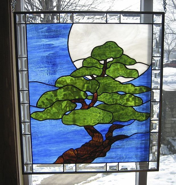 30 Best Images About Stained Glass Trees Bonsai On