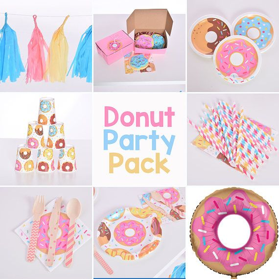 Donut Party Pack, Donut Party,  Donut Birthday Party, Donut Party Supplies, Party Box