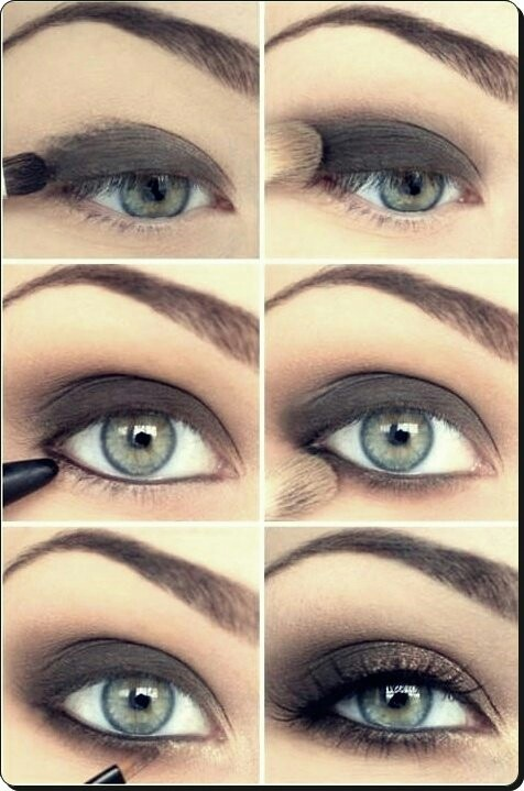 Maquillage yeux charbon