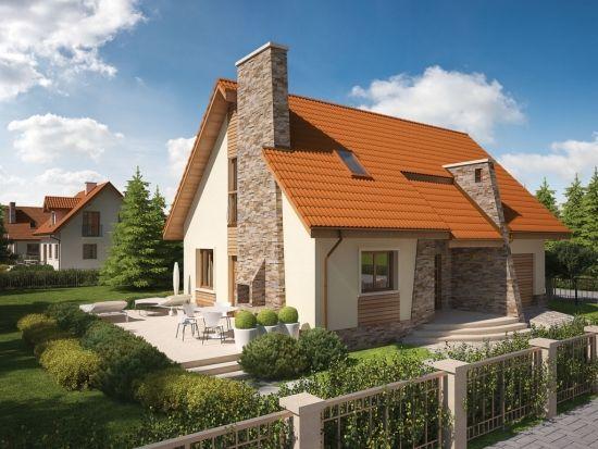 Casa de vis cu 3 dormitoare - proiect fara egal cu o arhitectura deosebita
