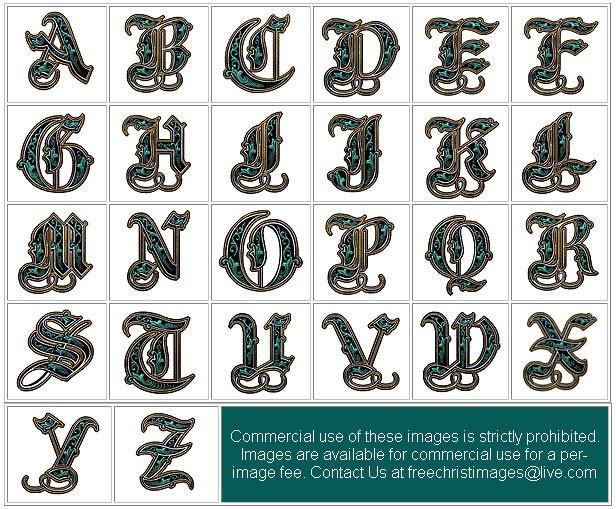 Illuminated Alphabet Set A - Z | Lettering Inspiration ...