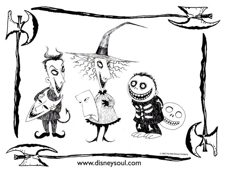 Pin By Cypress Ditchweed On Ink Ideas Nightmare Before Christmas Drawings Christmas Coloring Pages Christmas Coloring Books