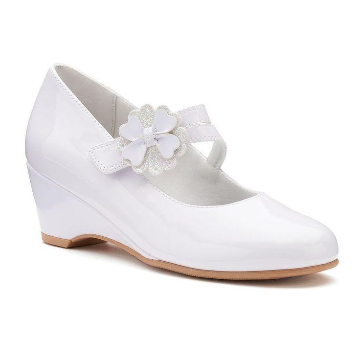 Rachel Shoes Ellie Girls' Wedge Dress Shoes Size 4 White Easter #RachelShoes #DressShoes #AnySpecialOccasion