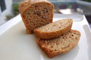 whole wheat zucchini bread made with honey