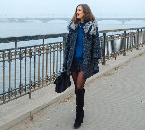 Love Republic Coat, Love Republic Gloves, Zara Boots, Zara Bag http://www.yourseureka.ru/