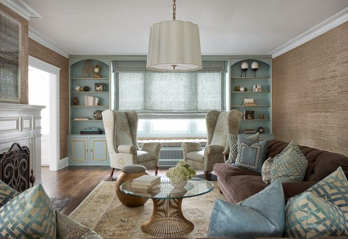 How to make a brown sofa look good!!!! House of Turquoise: Diana Weinstein Design #design #inspiration