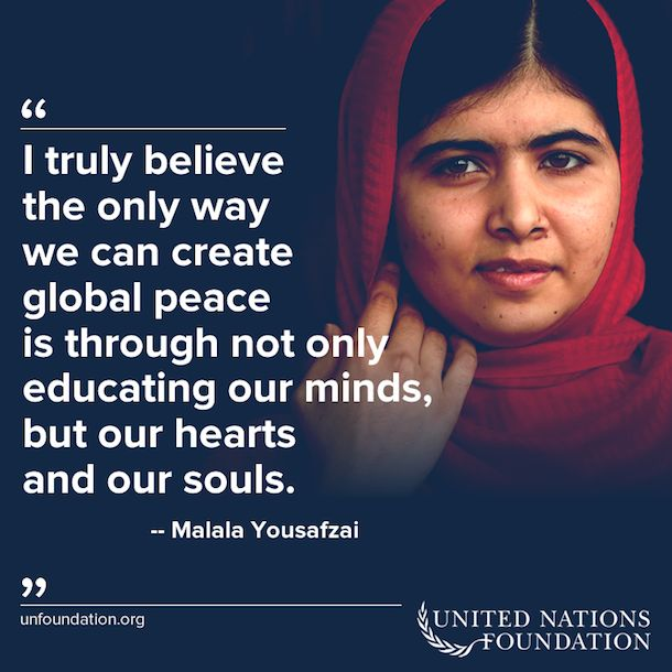 9 Inspiring Malala Quotes  Human rights ambassadors change the world, become on at http://www.fuzeus.com