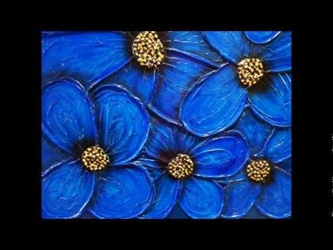 HOW TO PAINT ACRYLIC FLOWERS textured abstract flowers instructional art DVD art lesson