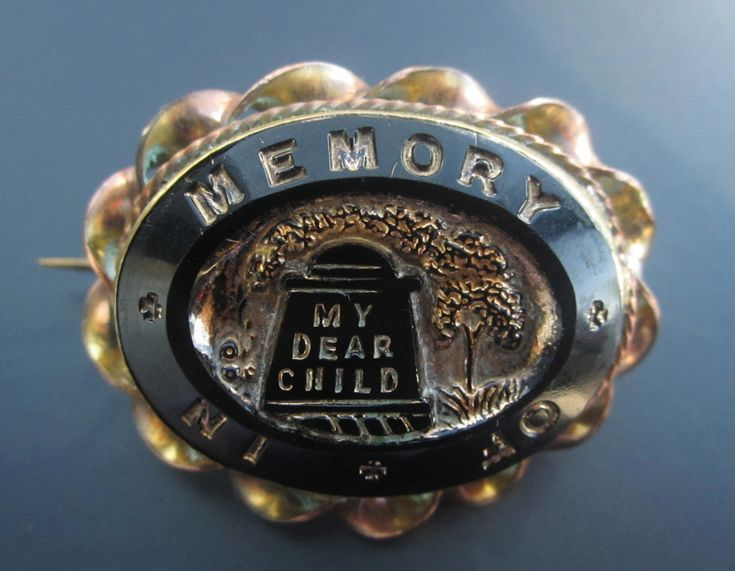 Victorian Mourning pin