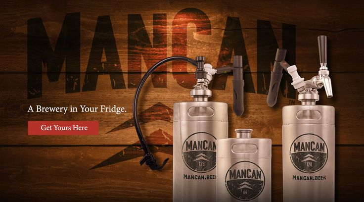 The ManCan is a personal keg system that keeps your favorite beer fresh, carbonated, and delicious -- the way it should be. Available in indestructible, 128oz (one-gallon) or 64oz (half-gallon) stainless steel. Two tap systems with the Perfect Pour Regulator can top these bad boys for the ultimate experience.