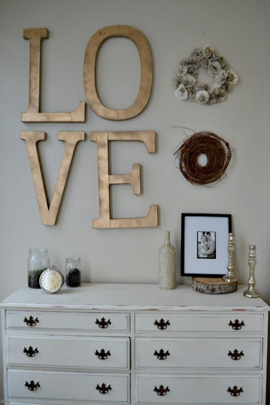 Painted letters for master bedroom