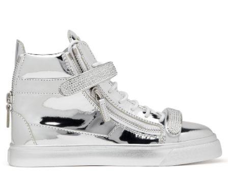 Giuseppe Zanotti, Trix, shoes, sneakers, silver sneakers.