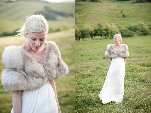I want the fur - yes, I said (wrote) it.  My wedding is going to be in Nov - so that makes it ok :)