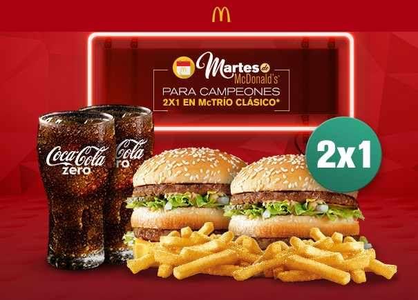 McDonalds 2x1 en Mctríos Clásicos