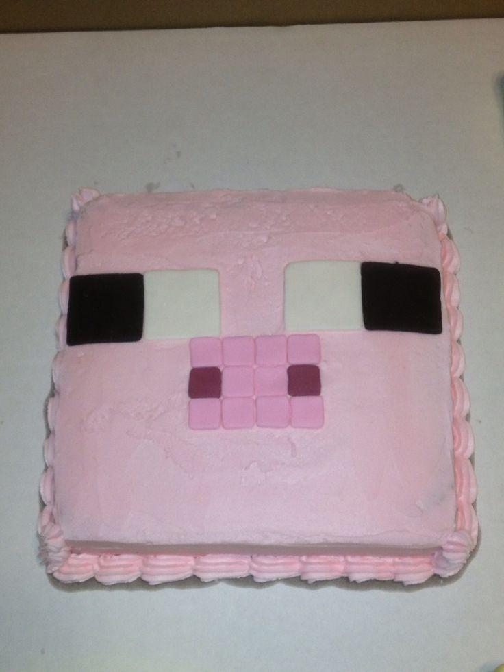 Minecraft Pig face cake