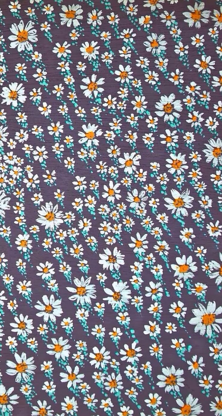 Daisy pattern wallpaper - photo#7