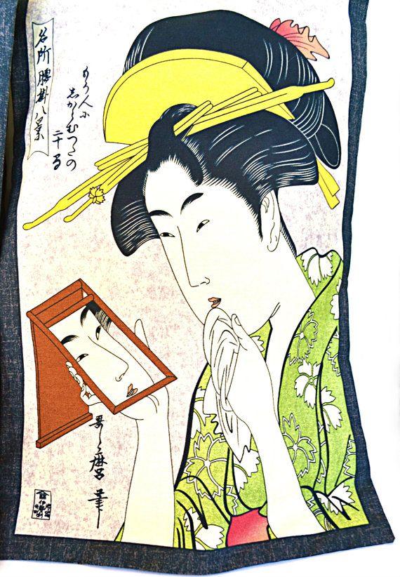Oosterse Geisha kussen Set 2  Feng Shui thee door LaOohLaLaBoutique