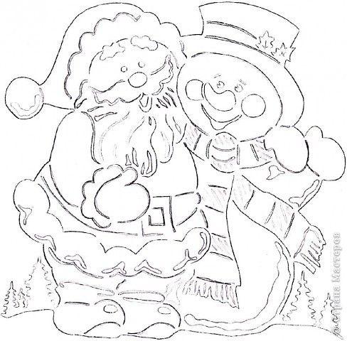 Картина панно рисунок Новый год Вырезание Зимние картинки Бумага фото 12