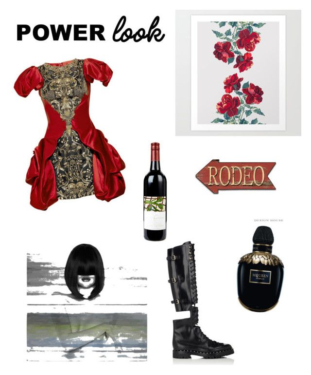 """Untitled #89"" by iamsonia ❤ liked on Polyvore featuring Alexander McQueen, Valentino and Parvez Taj"