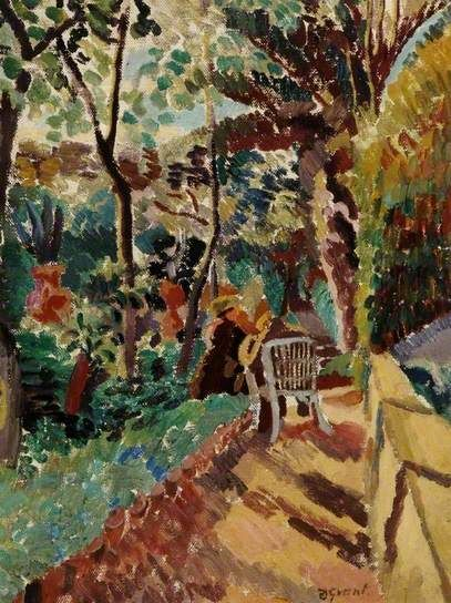 ✽   duncan grant  - 'in the garden of the hotel de russie, rome'    -   1920   -  oil on canvas