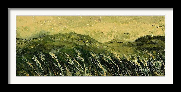 Abstract landscape painting and prints, by Alexandra Kiczuk.