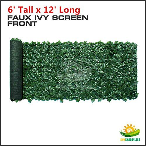 Windscreen4less® 6' x 12' Artificial Faux Ivy Leaf Privacy Fence Screen Decoration Panels Windscreen Patio Windscreen4less http://www.amazon.com/dp/B00XKJ0DCI/ref=cm_sw_r_pi_dp_lCLRvb1WWJ75N