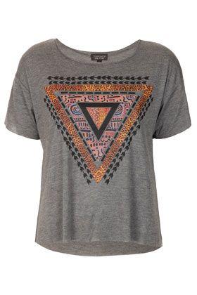 Kurzes T-Shirt Mit Ethno-Aztekendruck