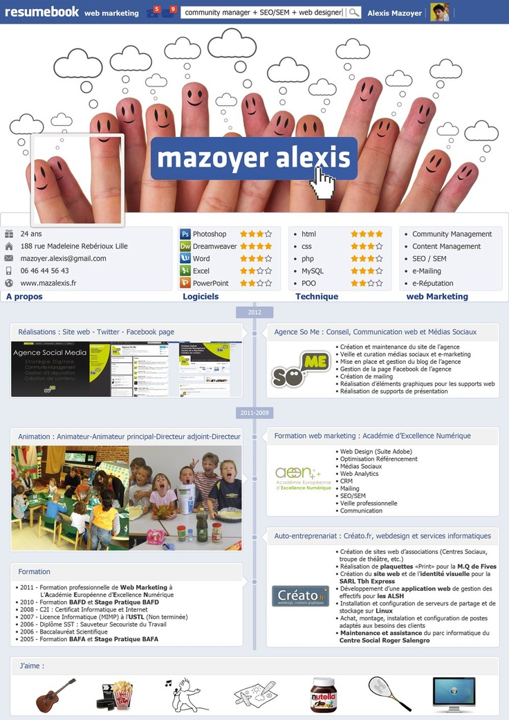 Préférence 66 best Resume - CV images on Pinterest | Resume cv, Infographic  CD86