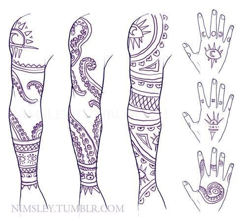 Cecil's tattoos. Welcome to Night Vale