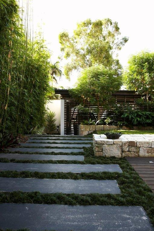 modern landscape design with stepping stone | 17 Best images about Stepping Stones on Pinterest ...