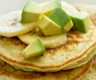 Avocados and bananas combine for a smooth batter to make scrumptious pancake recipe. Top with additional fruit for bonus nutrition.