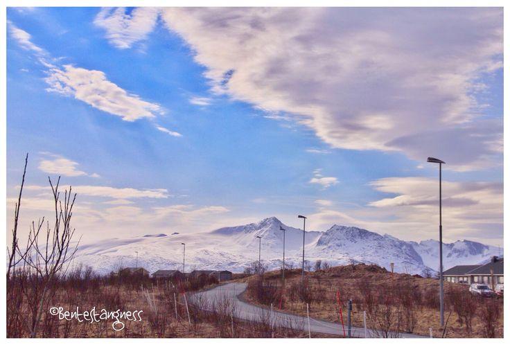 The mountains from Northern Senja island.  Hillesøy - Sommarøy - Tromsø - Troms - Northern Norway