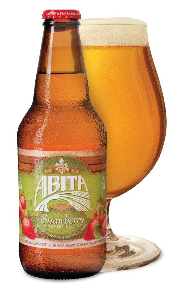 Real strawberries flavor this beer.  It's so good.  Only comes out once a year. Look for it at abita.com or get their app.  Yum.