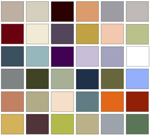 Art nouveau interior design home decor palette - Art deco color combinations ...