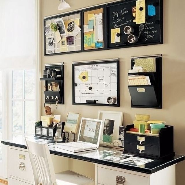 Another cute idea for a wall in our downtown office for Small office area
