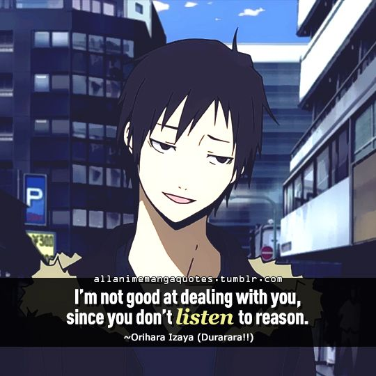"""Anime With Rude Quote: """"I'm Not Good At Dealing With You, Since You Don't Listen"""