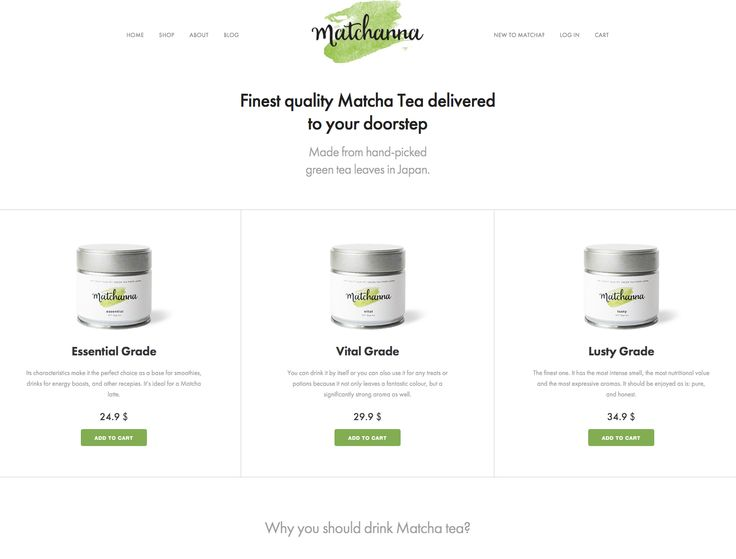 Finest quality #Matcha Tea in a no-hassle monthly subscription. Sold with WooCommerce :)