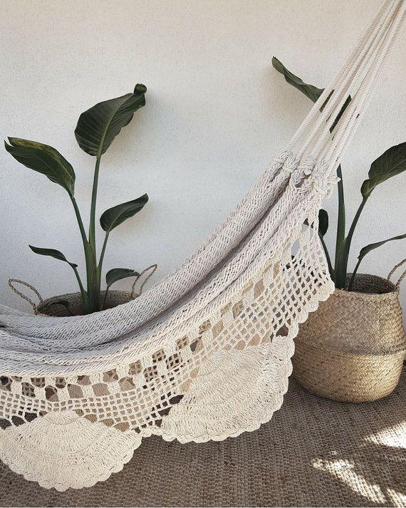 Crochet And Fringes Hammock Bohemian Boho Chic By Azulbereber