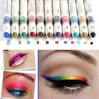 Description:   1.Type:Glitter Lip liner Eye Shadow Eyeliner Pencil Pen 2.Material:Wood Penholder 3.C