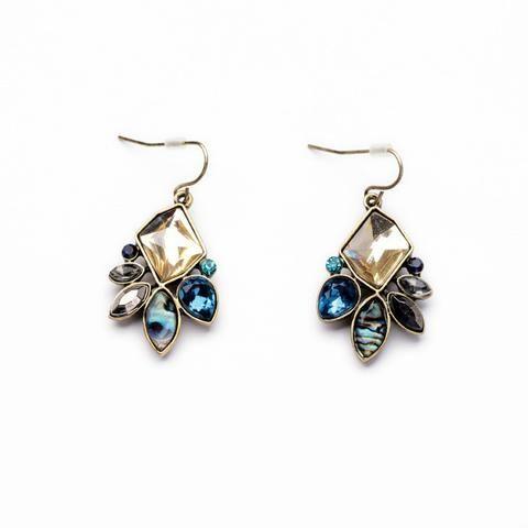 Classic Flower Rhinestone Drop Earrings