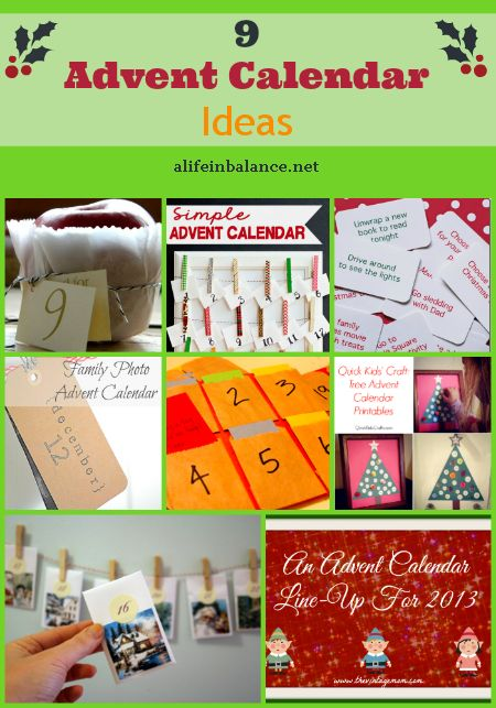 Advent Calendar Ideas/Crafts