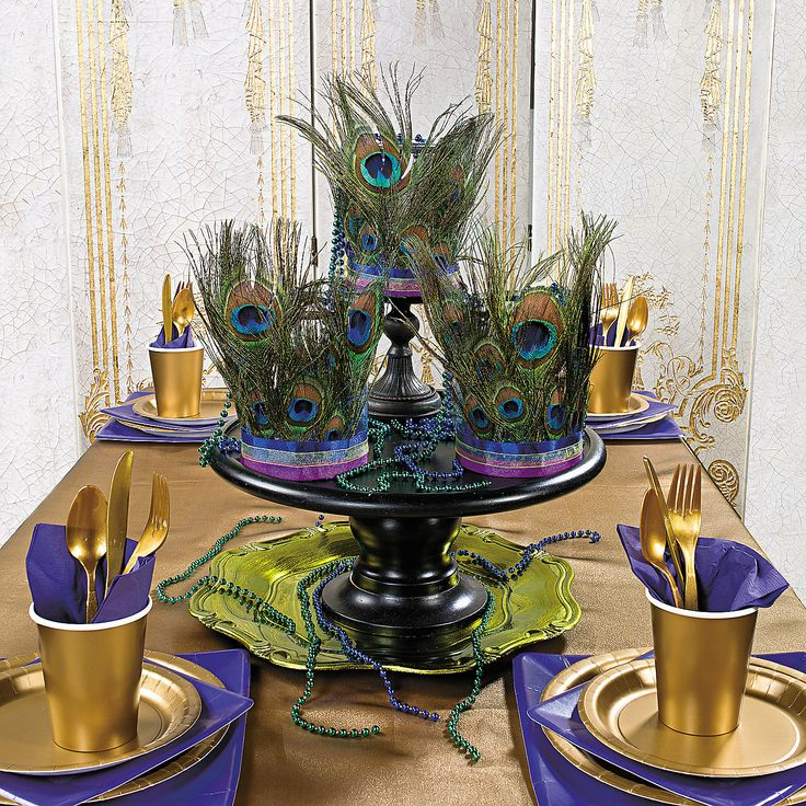 Peacock Wedding Centerpieces Ideas: 72 Best Images About Mardi Gras Party On Pinterest