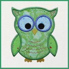 GO! Cute Owl Embroidery Design by Marjorie Busb
