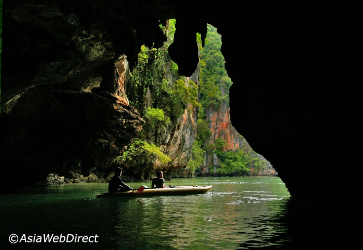 If you travel to Thailand, there is one amazing place totally out of this world you should absolutely visit: Phang Nga Bay - http://phuket101.net/2011/01/kayaking-in-phang-nga-bay-phuket-best.html