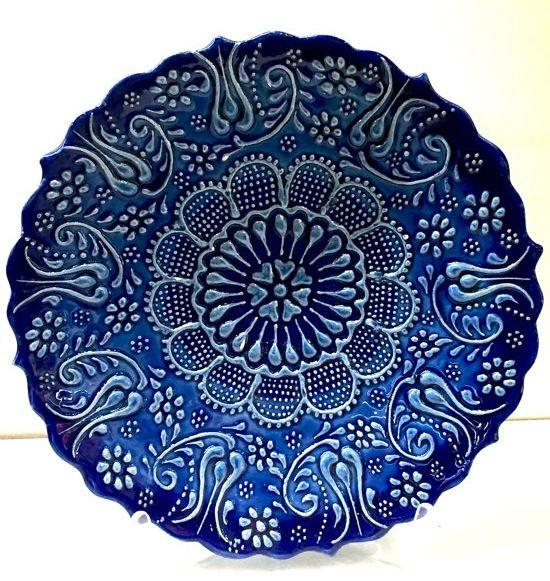 "BLUE FIRUZE PLATE, 20 CM (7.8"")"
