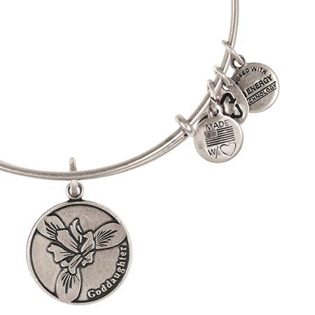 Alex and Ani Goddaughter Expandable Wire Bangle Russian Silver