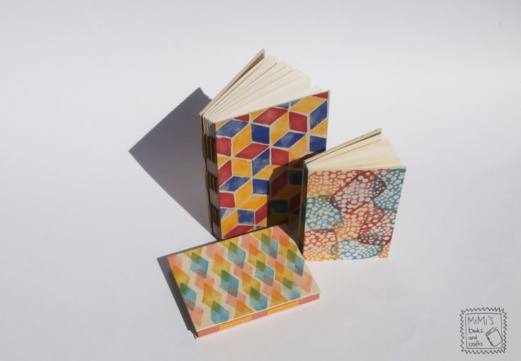 hand printed notebooks - 2014 spring