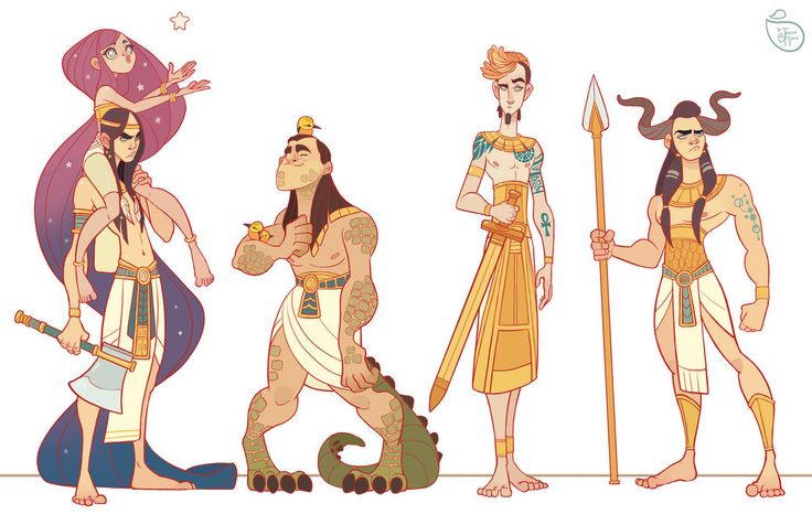 Character Design: Egyptian Gods by MeoMai on DeviantArt ★ Find more at http://www.pinterest.com/competing/