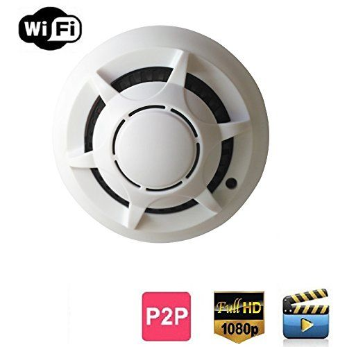 Wifi UFO Hidden Camera Wireless Spy Cameras Smoke Detecto…